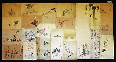 22x 19C/20C Japanese Mixed Lot Paintings, Drawings, Calligraphies (HMA) #1646