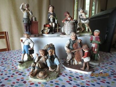 Lot of 8 Normal Rockwell Figurines
