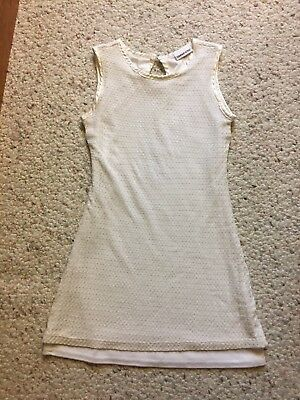 Limited Too Size 8 Girls White Dressy Summer Dress