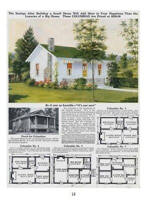 Aladdin Homes 1923 Model HOME Catalogue Homecraft CRAFTSMAN California Bungalow
