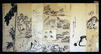 19x 19C/20C Japanese Mixed Lot Paintings, Drawings, Calligraphies (HMA) #1654