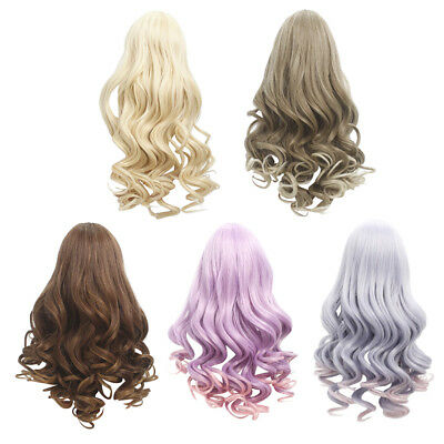 Long Fluffy Wavy Replacement Wigs for 18'' American Girl Dolls DIY Making Supply