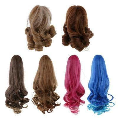 15cm/40cm Doll Wig Curly Hair for 18'' American Girl Doll DIY Making Accessories
