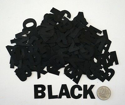 NO 535 Scrapbooking - 156 Black Alphabet Letters - Not Stickers - Scrapbook