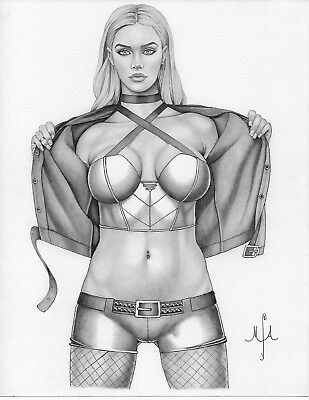 BLACK CANARY Original Art by Michael Armstrong REBIRTH