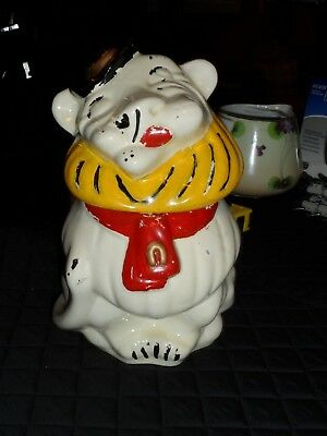 1950'S Cookie Jars Magnificent COOKIE JAR RARE Old Vintage Ludowici Belmont Lion 60 Tall Yellow