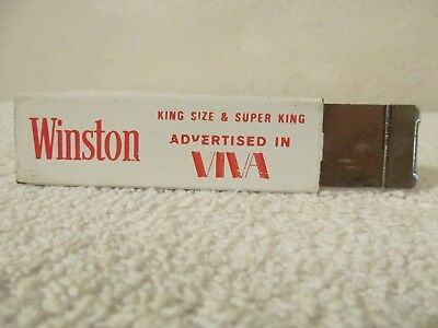 Winston Cigarette Box Cutter As Advertised In Viva Magazine Vintage 1974