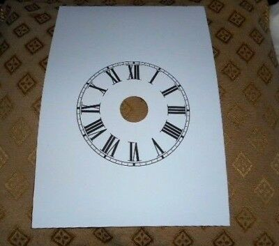 "Steeple (Alarm) Paper Clock Dial - 5"" M/T-Roman - Matt White- Face /Clock Parts"