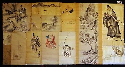 13x 19C/20C Japanese Mixed Lot Paintings, Drawings, Calligraphies (HMA) #1980