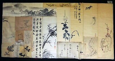 19x 19C/20C Japanese Mixed Lot Paintings, Drawings, Calligraphies (HMA) #1982