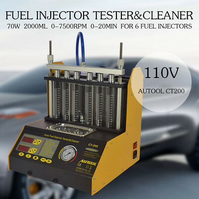 Hot AUTOOL CT200 Ultrasonic Fuel Injector Cleaner Tester For Petrol Car Motor