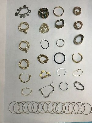 Huge Lot Of 39 Vintage Bracelets...LQQK!