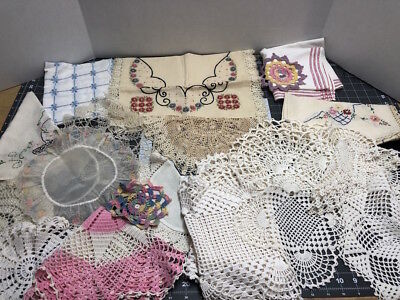 Huge Lot Of Vintage Crochet Doilies...LQQK!  #6