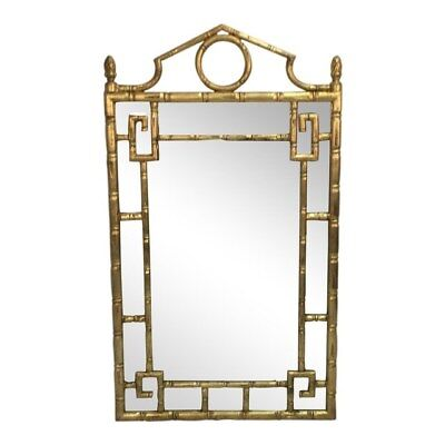 Mirror Vintage-Hollywood Regency Faux Bamboo Style- Pagoda Style