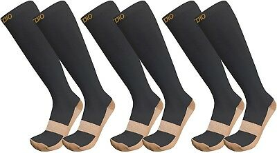 Plus Size Wide Calf Knee High 3-Pack Copper Infused Compression Socks