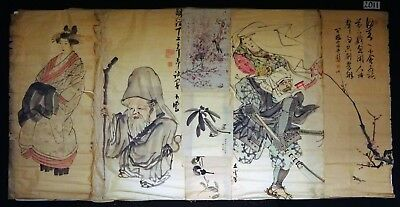 7x 19C/20C Japanese Mixed Lot Paintings, Drawings, Calligraphies (HMA) #2011