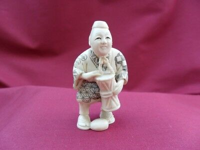 Japan netsuke Drum Player