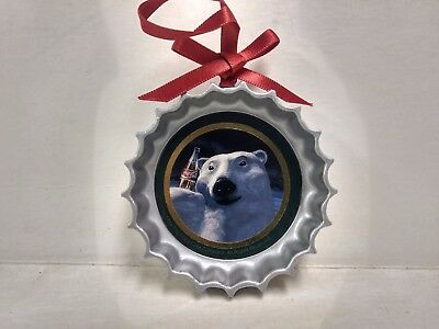 Coca Cola Trim-A-Tree Ornament Collectors edition Bottle Top Polar Bear   ch148