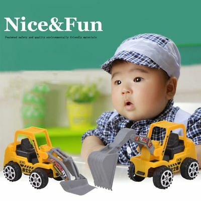 6 Types Construction Vehicle Toy Kids Gift Engineering Car Truck Model