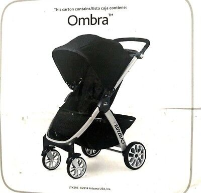Chicco Bravo Trio Quick Fold Auto Positioning Baby Infant Stroller, Ombra