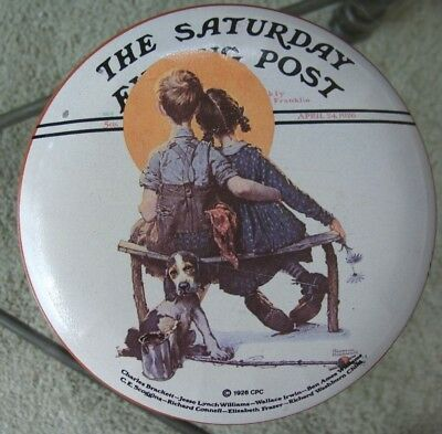 Norman Rockwell Saturday Evening Post Little Spooners Tin - Collector's Series