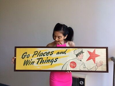 Rare Vintage 1950's Coca Cola Advertising Display Sign Route Drivers Contest