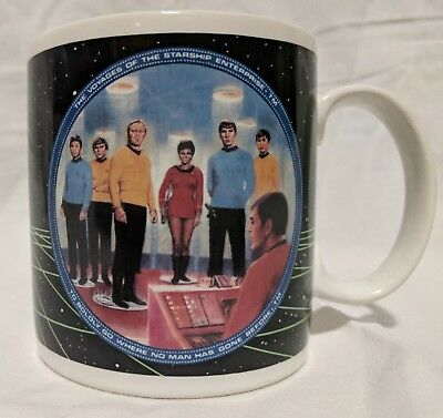 1991 Star Trek Enterprise Crew Ceramic Mug Hamilton Presents P7533 Coffee Cup