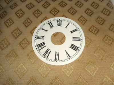 "Round Alarm Paper Clock Dial - 4"" M/T - Roman - Matt Cream - Face/Clock Parts"
