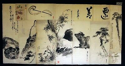 13x 19C/20C Japanese Mixed Lot Paintings, Drawings, Calligraphies (HMA) #2033