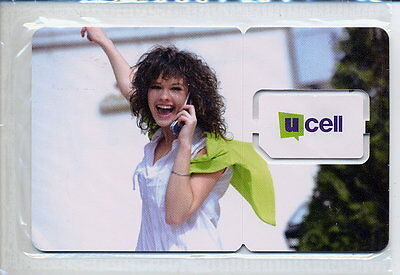"UZBEKISTAN Ucell ""Nice girl"" GSM SIM card Mint in blister"