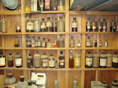 Rare Antique Bottles Medicine Chemical Essential Oils Extracts Early 1900s