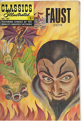 """Classics Illustrated #167  """"Faust"""" by Goethe - February 1964"""