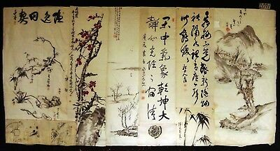 9x 19C/20C Japanese Mixed Lot Paintings, Drawings, Calligraphies (HMA) #2071