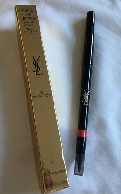 Ysl Lip Liner The Lip Styler  No 52 'Rouge Rose' New In Box