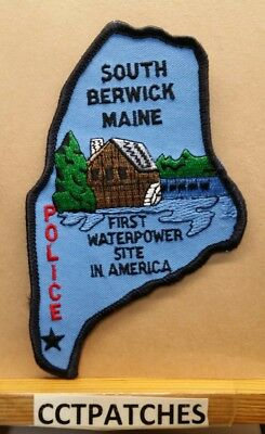South Berwick, Maine Police State Shaped Shoulder Patch Me