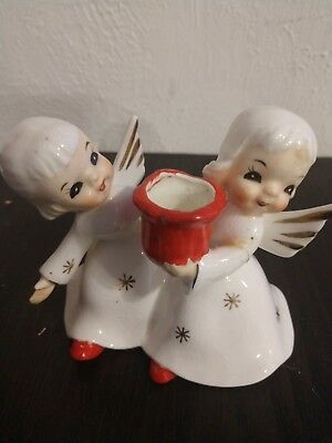 Napco Ware snowflake girls candle stick holder