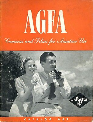 Agfa Cameras and Films Catalog A89 Revised to August 1, 1939