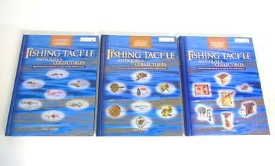 3 Fishing Tackle Antiques & Collectibles Hard Back Reference Books Vol 1-2 & 3