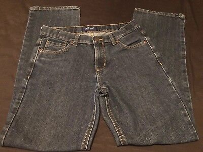 Old Navy Boys Jeans kids size 14 Regular Dark Denim Wash adjustable waist