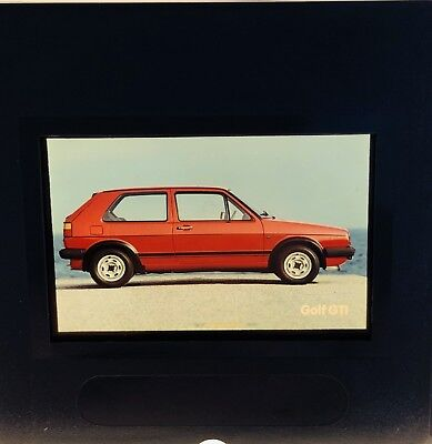 Photo Slide/negative VW Golf GTI 1983 Photographic Images Collectibles