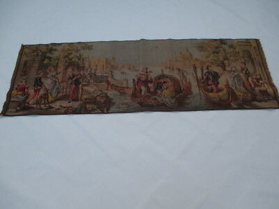 Old French / Belgium Tapestry Wall Hanging - 142 x 48 cm ( 4430 )