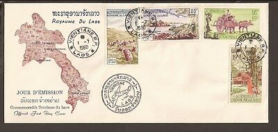 Laos 1960 Airmail FDC. National Tourism Industry