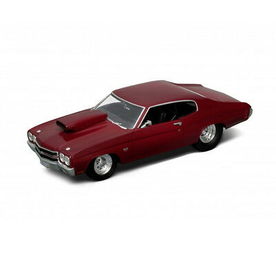 WELLY 1:18 1970 Chevrolet Chenille Pro Street  Red  (WE12537R)