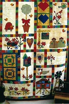 Country Essentials Patchwork and Applique Quilt Pattern, Instructions and Kit
