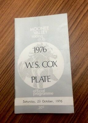 Cox Plate Race Book 1976 Surround Not Melbourne Cup
