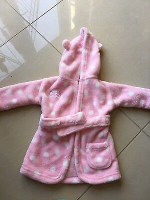 Baby Girls Dressing Gown 0-6 Months