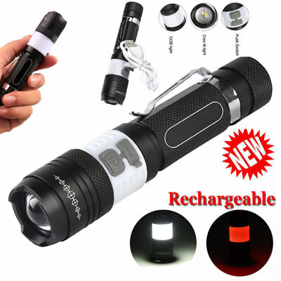 5000LM  LED Tactical 18650 Flashlight Zoom Hunting Camping Lamp Light Torches