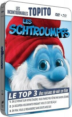 Les Schtroumpfs COMBO BLU-RAY STEELBOOK + DVD NEUF SOUS BLISTER