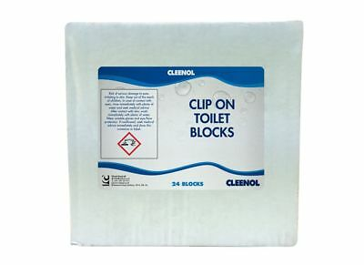 Clip On Toilet Blocks - Pack of 24 - Cleenol - 082899/24