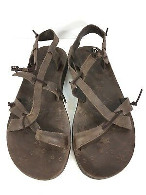 ab923281dae6 CHACO LOCAL ECOTREAD Brown Leather Strap Casual Outdoor Sandals Women s 9  Nice! -  44.99